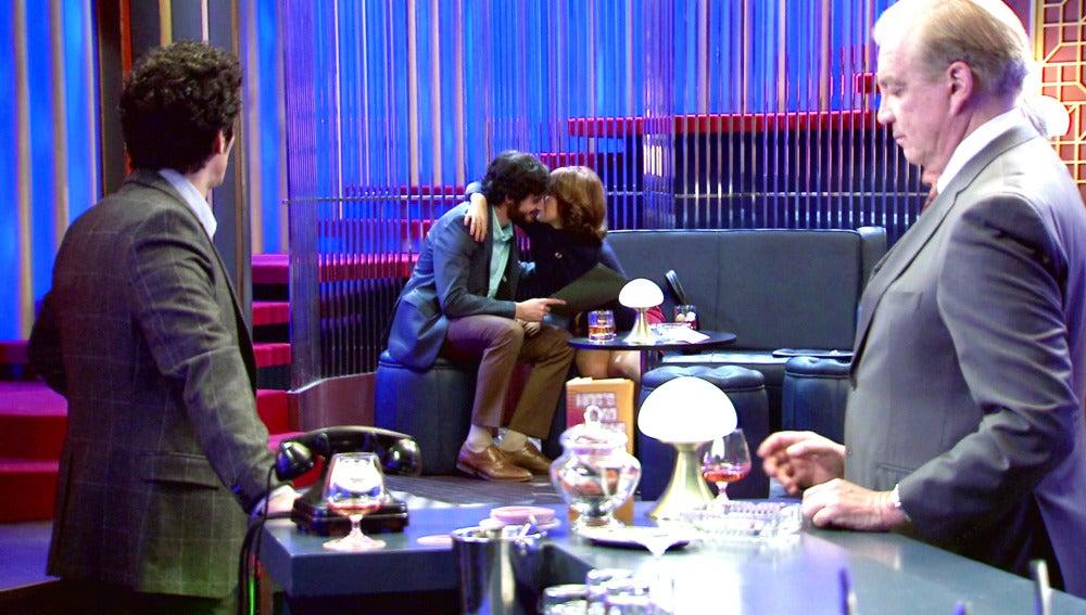 Martín se oculta tras ver a Jaime y Nuria muy acaramelados