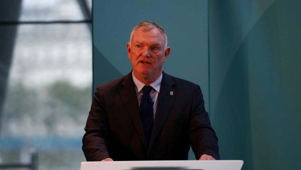Greg Clarke, presidente de la Federación inglesa