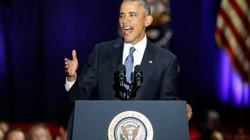 Barack Obama durante su discurso