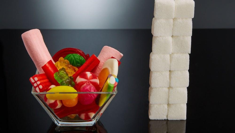 Equivalencia de el azúcar que contienen las chucherías
