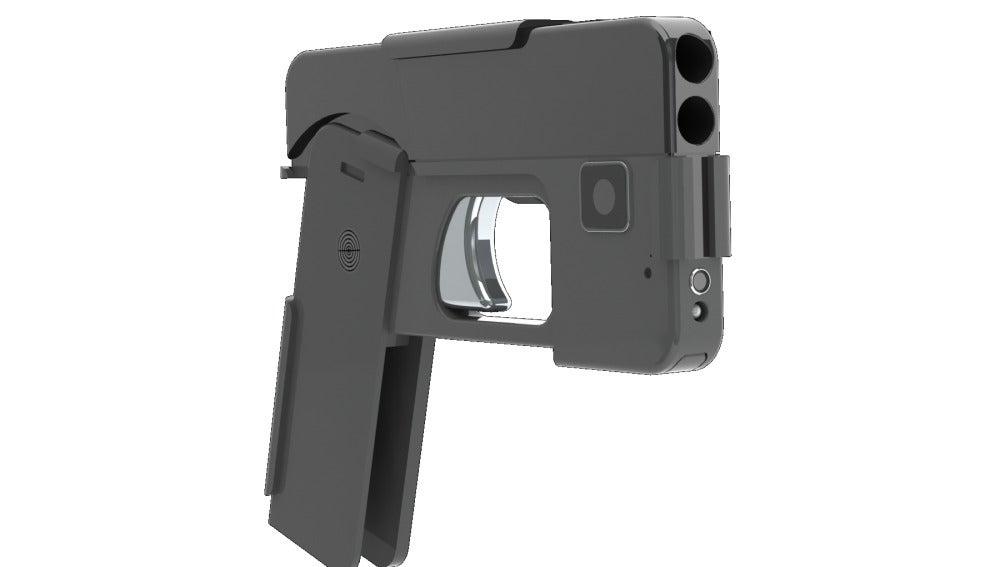 Pistola con forma de iPhone