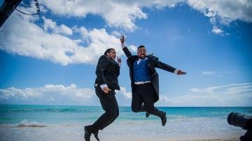 Jesús Carrillo y Jesús Macías se divierten en sus primeras fotos juntos