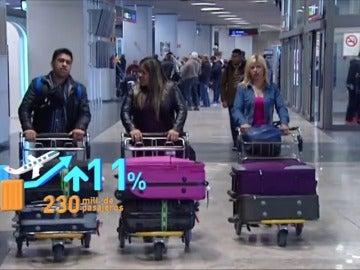 Frame 16.09868 de: Las aerolíneas españolas lanzan ofertas de vuelos en enero, a pesar de la subida del petróleo