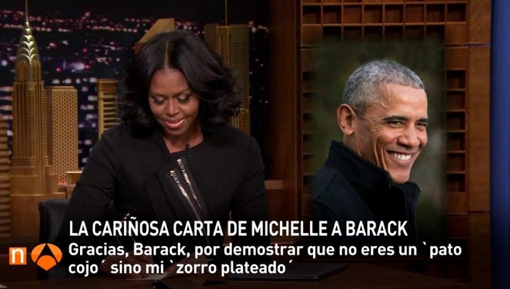 "Frame 9.205424 de: ""Gracias, Barack, por demostrar que no eres un pato cojo sino mi zorro plateado"""