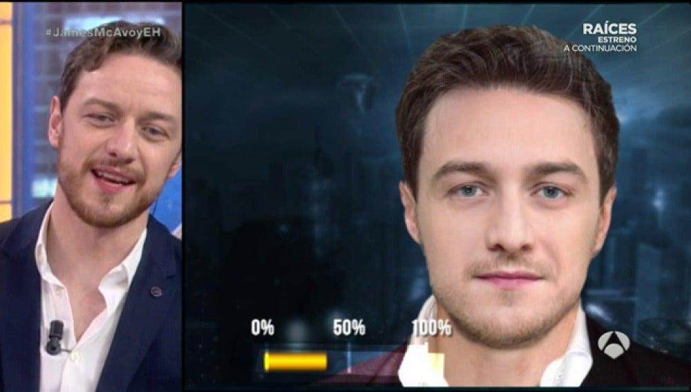 Frame 117.946666 de: Así sería la cara de James McAvoy fusionada con la de su compañero, Daniel Radcliffe