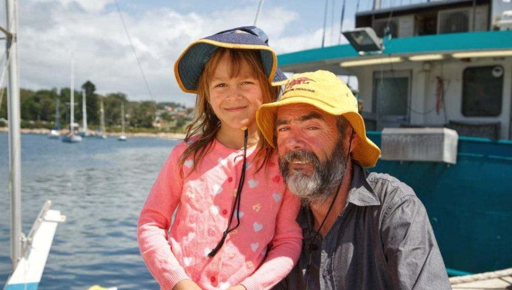 Alan Langdon y su hija Que