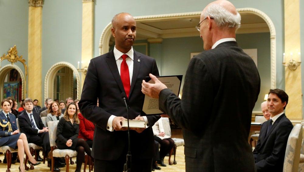 Ahmed Hussen durante su nombramiento