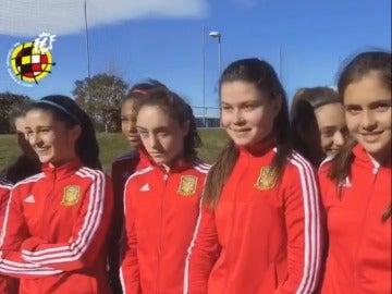 Jugadoras de la selección femenina Sub-19 de fútbol