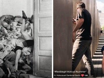 Polémica en Berlín ante los montajes fotográficos con el monumento del Holocausto