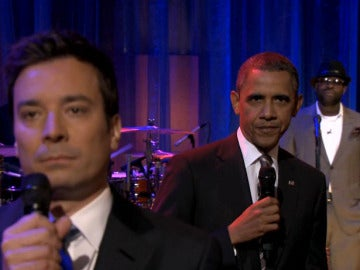 Barack Obama rapea con Jimmy Fallon