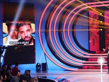 Disfrutaremos una sensual imitación de Beatriz Luengo y Yotuel Romero como Rihanna y Drake