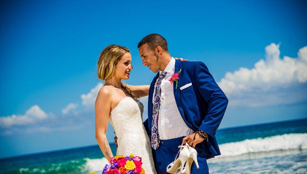 Mónica y Jordi, recién casados