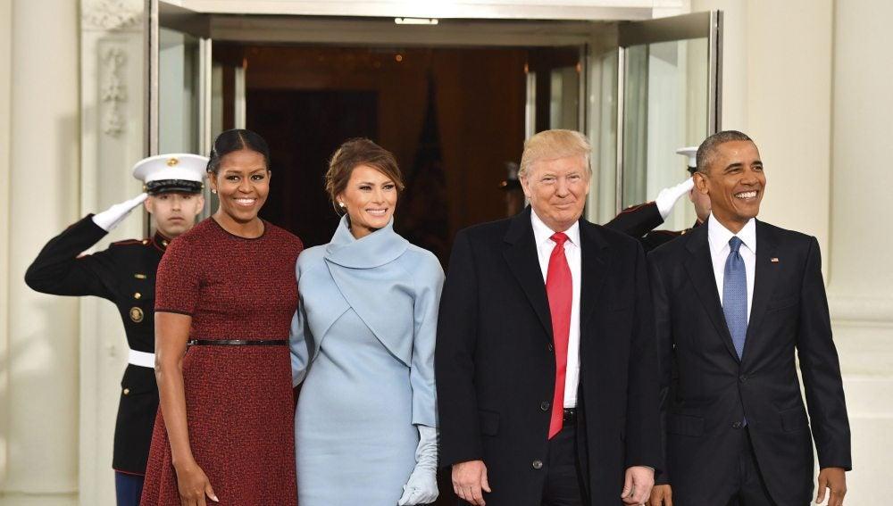 Los Obama y los Trump en la Casa Blanca