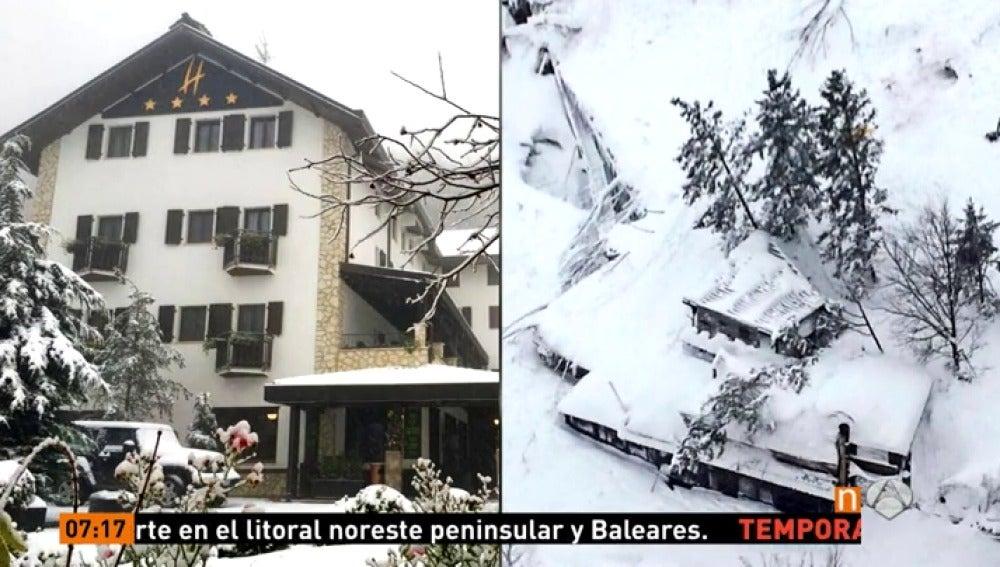 Frame 50.68 de: El rescate en el hotel de Italia sepultado por el alud avanza despacio por la peligrosidad del terreno
