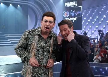 Arturo Valls y Carlos Latre en la duodécima gala de 'Tu cara me suena'