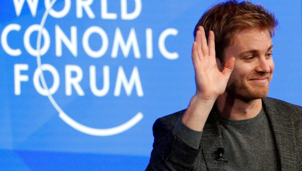 Nico Rosberg, en el Foro de Davos