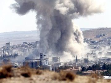Ataque en Siria - Imagen de archivo