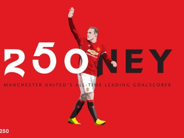 El United celebra el gol 250 de Wayne Rooney