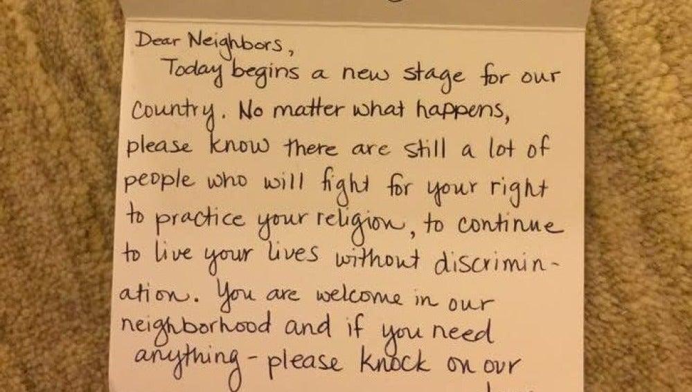 La carta que han recibido algunas familias musulmanas