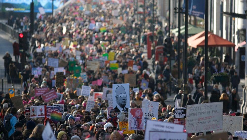 Manifestación contra Trump en Londres