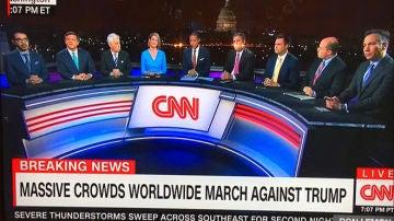 Critican a la CNN por la cobertura que ofreció de la Marcha de las Mujeres contra Donald Trump