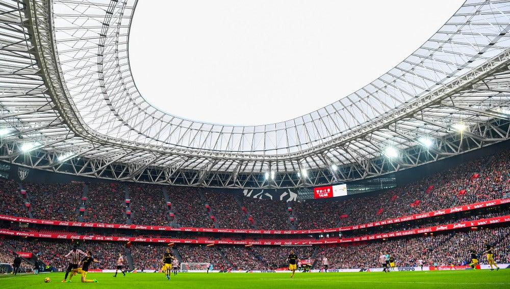 San Mamés, durante el Athletic-Atlético de Madrid