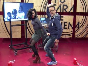 Beatriz Luengo pone a prueba su destreza con el twerking