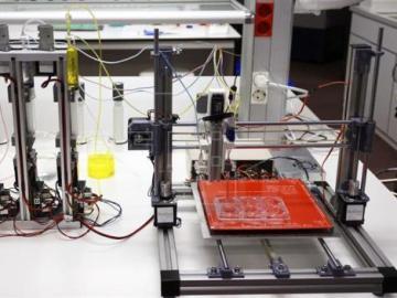 Fotografía facilitada por la Universidad Carlos III de Madrid de la bioimpresora 3D