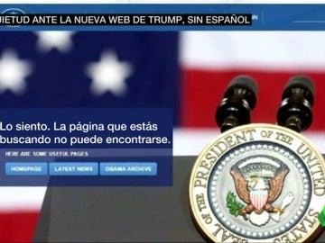 Frame 9.702261 de: La Casa Blanca de Donald Trump elimina la versión en español de su página web