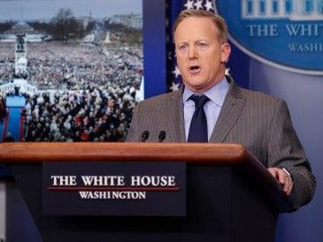 El nuevo portavoz de la Casa Blanca, Sean Spicer