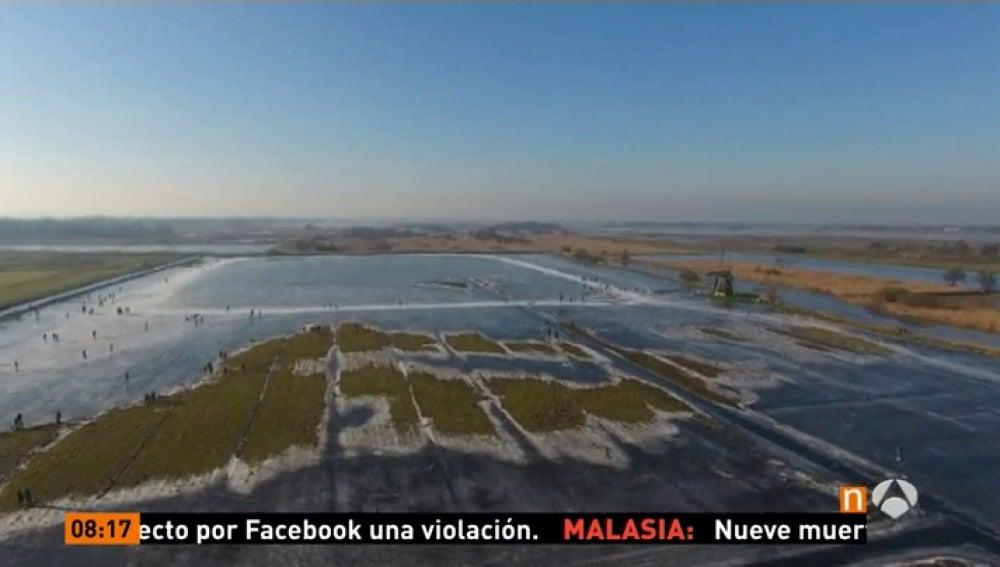 Lago helado de Holanda