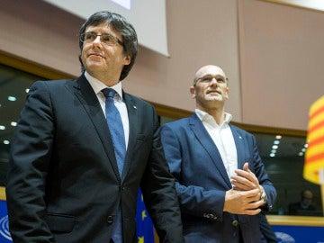 Carles Puigdemont y Raül Romeva
