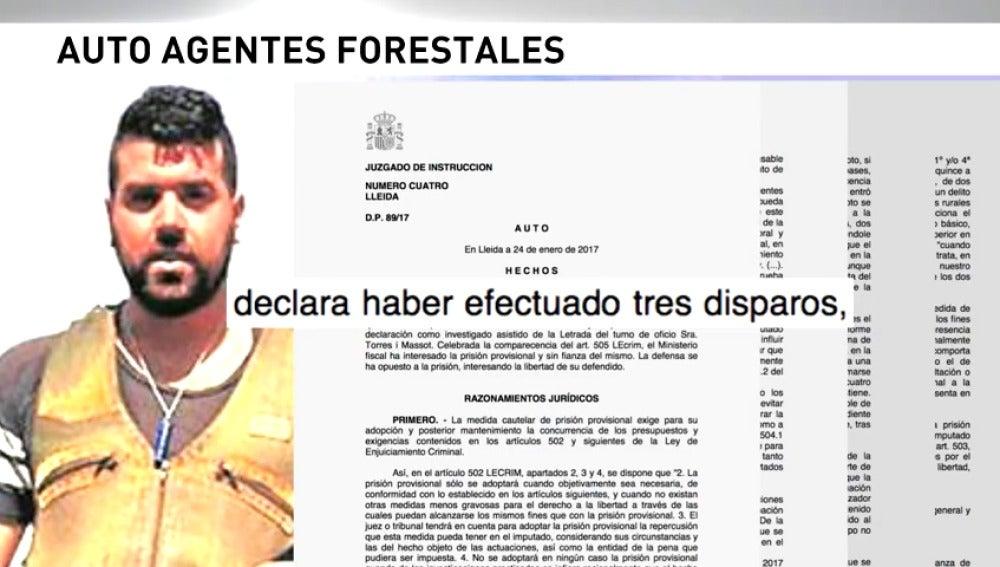 Frame 37.313002 de: Prisión provisional para el cazador acusado de matar a dos agentes rurales en un coto de Lleida