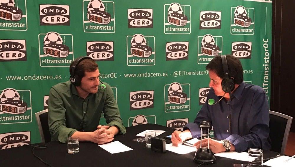 Iker Casillas con De la Morena