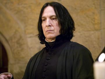 Alan Rickman como el profesor Snape