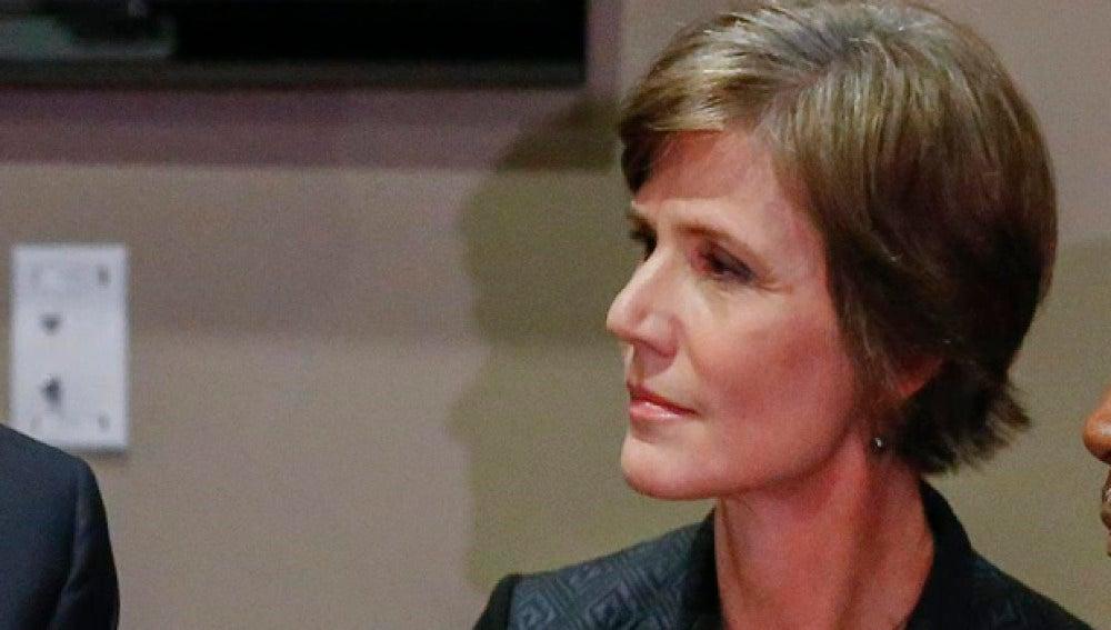 Sally Yates, exfiscal general de EEUU