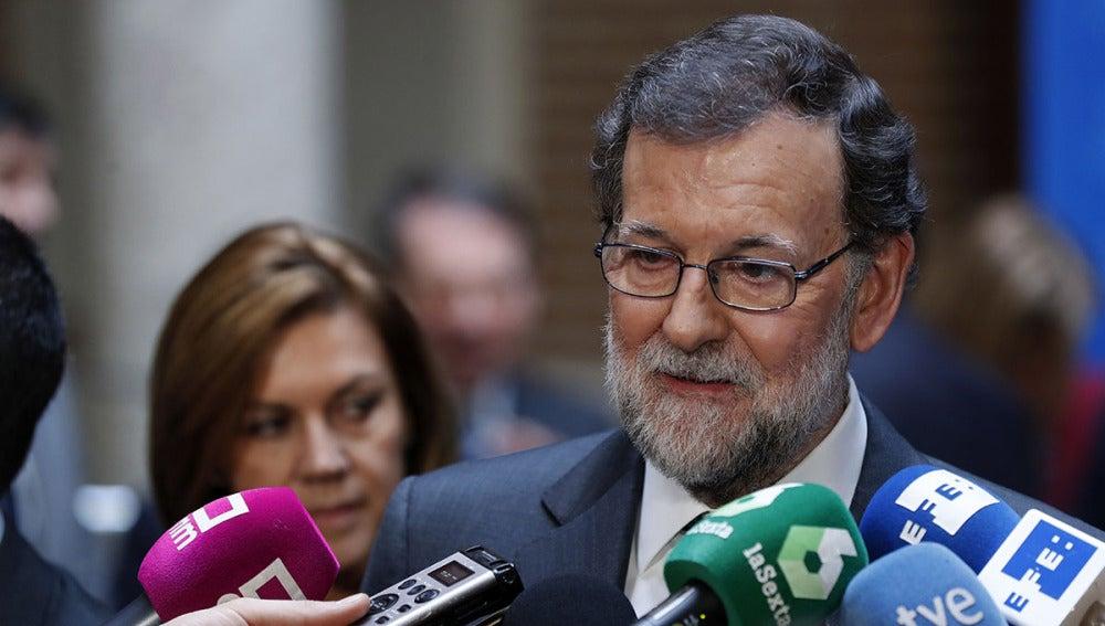 Mariano Rajoy ante los periodistas