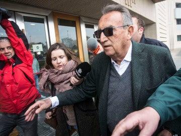 Carlos Fabra a su llegada a la Ciudad de la Justicia de Castellón