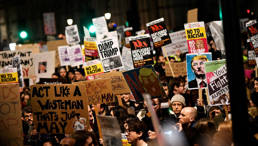 Protestas contra Trump en Londres