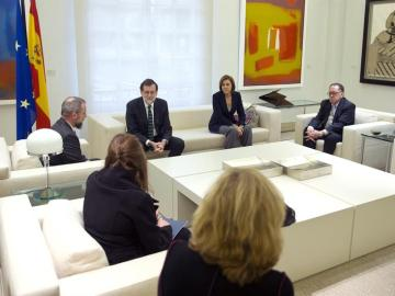 Rajoy se reúne con las víctimas del Yak-42