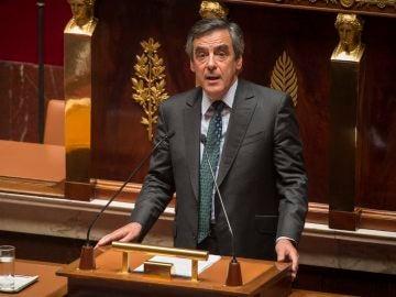 François Fillon, el ex primer ministro francés, en la Asamblea Nacional
