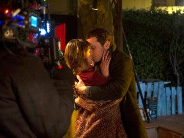 Pablo Derqui e Ingrid Rubio en el rodaje de cuarto capítulo
