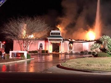 Un incendio destroza la mezquita de Victoria, en Texas