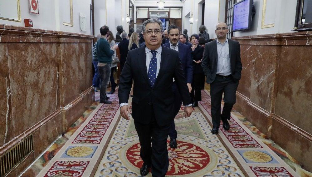 El ministro del Interior, Juan Ignacio Zoido, en el Congreso de los Diputados