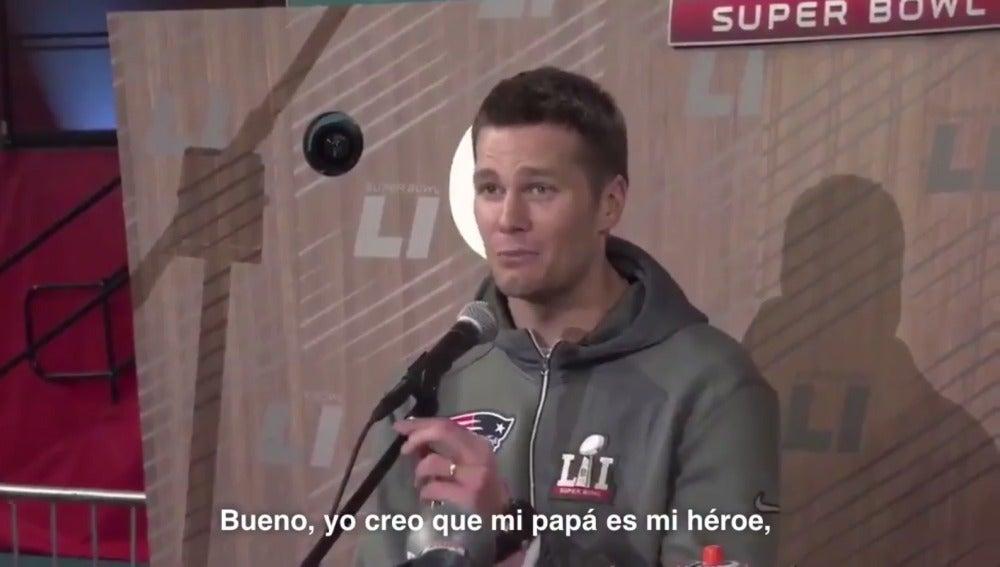 Tom Brady, entre lágrimas