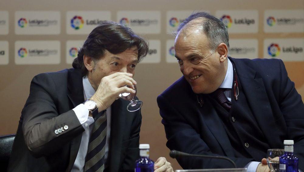 Javier Tebas y José Ramón Lete
