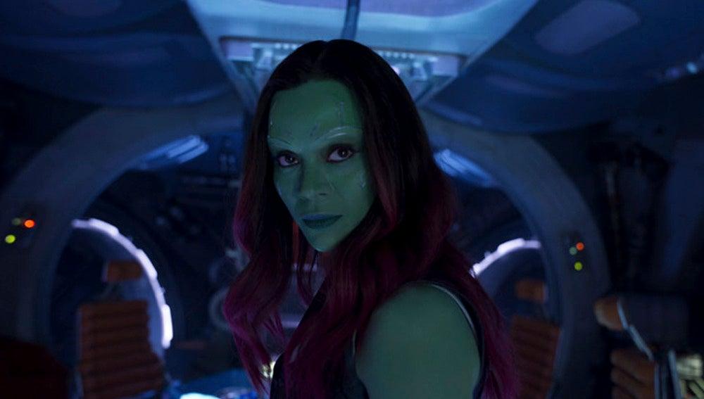 Zoe Saldana interpretando a Gamora