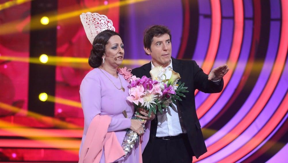"""Carlos Latre a Yolanda: """"La actitud muy bien"""""""