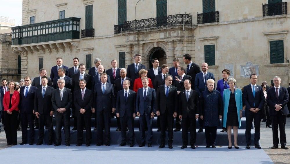 Los líderes de la Unión Europea en Malta