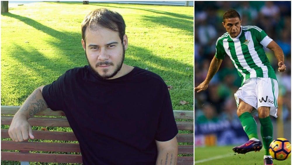 Pablo Hasel y el jugador del Betis Joaquín